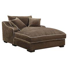 Emerald Home Furnishings Caresse Fabric Chaise Lounge  $960