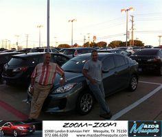 #HappyAnniversary to Atta Rachis on your 2013 #Mazda #Mazda3 from Jim Klick at Mazda of Mesquite!