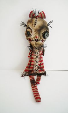 Monster Lilou Bell - Art doll by Junker Jane