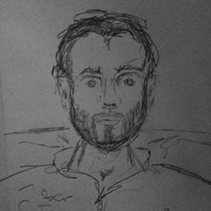 Total random pre bed sketch the beard is all about my irritation with the hair on my face the rest?!? #sketch #sketchbook #pencil #carandache