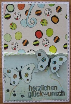 Butterfly congratulations card