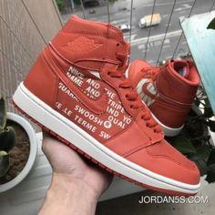 ebf8c3b02e46bc Air Jordan 1 Nike SwooshOrange Off-White Sample Style 555088-800 New Year  Deals