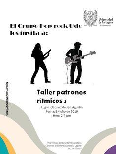Taller Patrones Rítmicos 2 #Unicartagena #Bienestar Pop Rock, Movie Posters, Home Decor, Senior Boys, Atelier, Activities, Patrones, Film Poster, Popcorn Posters
