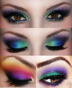 Find images and videos about makeup, eyes and make up on We Heart It - the app to get lost in what you love. Unique Makeup, Love Makeup, Makeup Tips, Makeup Looks, Hair Makeup, Fun Makeup, Maquillage Cut Crease, Fantasy Make Up, Makeup Tumblr