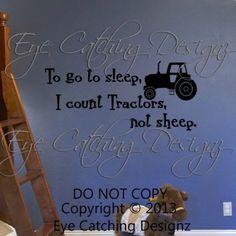 To Go to Sleep I Count Tractors Nursery Room Wall Decal Vinyl Decor John Deere | eBay
