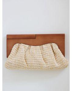 $42 #wooden #woven #clutch
