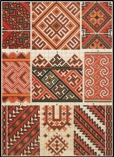 Romanian embroidery sample