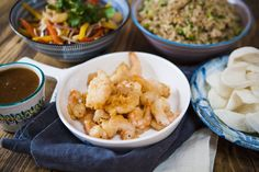 Sweet And Sour Prawns With Eggfried Rice