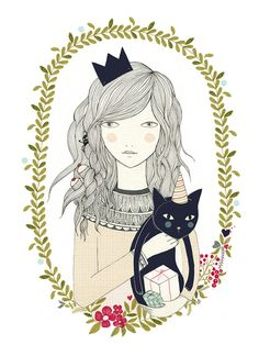 Image of Print gato Illustrationy by Lady Desidia