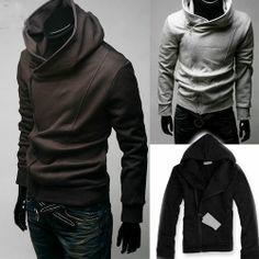 HOT Men Male Top Designed Slim Fit Sexy Hoody Jacket Coat Outwear Boy 4 Colors