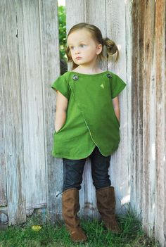 {The Lucy Top} adorable. reversible.  Might be cute with laminated fabric for dirty activities.