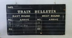 Surely this can be DIYed. Antique train depot sign. Country Living, March 2013.