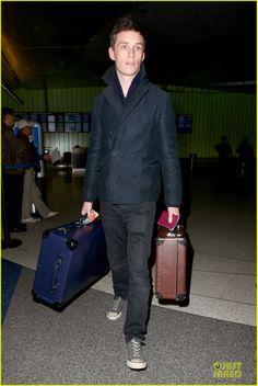 Celeb Diary: Eddie Redmayne arriving at LAX Airport in Los Angeles