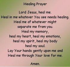 Healing Prayer.