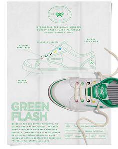 Introducing the Anya Hindmarch Dunlop Green Flash Plimsolls