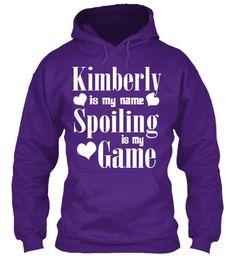Kimberly Is My Name Purple Sweatshirt Front
