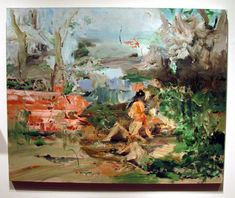 """""""Figures in a Garden,"""" by Cecily Brown, oilon linen, 48 by 60inches"""