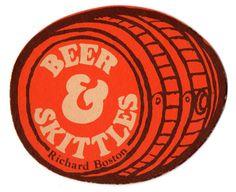 Beer & Skittles beer mat