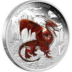 Silver Investment News: DRAGONS OF LEGEND - RED WELSH DRAGON 2012 1OZ SILVER PROOF COIN Red Dragon, Dragon Art, Rare Coins, Us Coins, Dragon Fight, Silver Investing, Welsh Dragon, Coin Art, Year Of The Dragon
