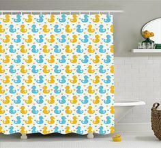 Rubber Duck Shower Curtain Set by Ambesonne, Baby Ducklin... https://www.amazon.com/dp/B01N8UU8ZD/ref=cm_sw_r_pi_dp_x_EX-Wyb1F75XSF
