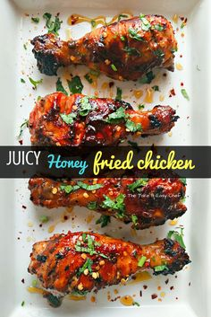 Are you ready for some sticky, juicy, finger licking good, fried chicken? This easy-peasy honey fried chicken is comfort food at its best. Crockpot Recipes, Chicken Recipes, Healthy Recipes, Easy Recipes, Top Recipes, Sweets Recipes, Delicious Recipes, Appetizer Recipes, Dinner Recipes