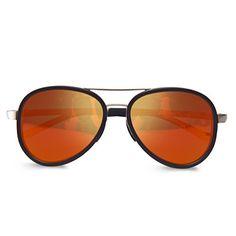 be4df11ba8e COLORTREE Aviator Sunglasses Polarized for Men Women with Case 400 UV  Mirrored black frame orange  gt