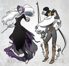 Winter witch and hunter by ming85.deviantart.com on @deviantART