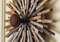 clothespin wreath by Mamie Janes