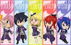 Chibi Fairy Tail bookmarks 2013 by AznCeestar on deviantART
