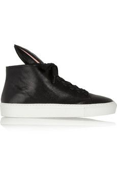 Finds + Minna Parikka Bunny leather high-top sneakers | NET-A-PORTER