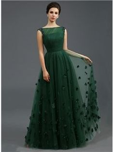 Just Shop for Solid Color Stereo Flower Sleeveless Tulle Elegant Dresses from Jollyhers Online now: All Kinds of Designer Special Occasion Dresses wit. Green Evening Dress, A Line Evening Dress, A Line Prom Dresses, Bridesmaid Dresses, Sexy Dresses, Summer Dresses, Homecoming Dresses, Green Dress, Long Dresses
