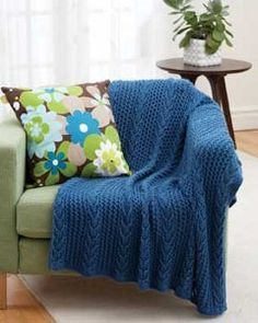 This blanket is so attractive, you'll want to display it any chance you get. Drape the beautiful Blue Tide Lacy Throw over a couch, chair, or anywhere else you can admire it.