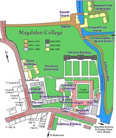 Magdalen Map Oxford