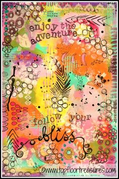 follow your bliss, art journal page by zoe ford
