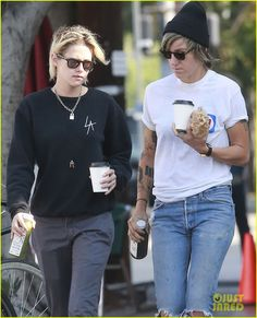 Kristen Stewart & Alicia Cargile Do a Weekend Coffee Run