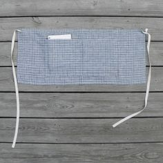 CAFE APRON linen plaid by smallbatchproduction on Etsy