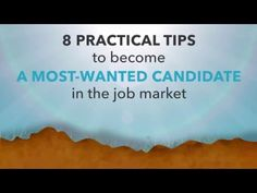 8 practical tips to become a most-wanted candidate in the job market 1. Be a Specialist 2. Be a Leader 3. Be a Team Player 4. Be a Curious Learner 5. Be Bold & Confident 6. Be Open Minded 7. Be Honest & have Integrity 8. Be a Visionary https://www.youtube.com/watch?v=p4QoEWT9drY Read our blog to learn more: [Click on the image] #‎poachme‬ ‪#‎jobs‬ ‪#‎career‬