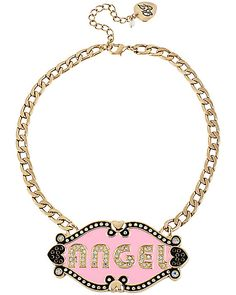 A&D ANGEL DEVIL 2 SIDED PLATE NECKLACE
