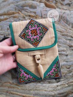 Beige Tribal Shoulder Bag Tribal Bag Hmong Bag Hippie Bag