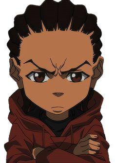 The Boondocks Cartoon, Boondocks Drawings, Riley Boondocks, Boondocks Characters, Swag Cartoon, Dope Cartoon Art, Black Cartoon Characters, Black Girl Cartoon, Cartoon Profile Pics