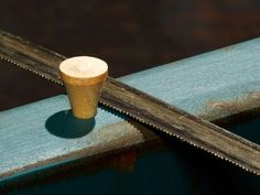 Use golf tees for enlarged screw holes (Popular Mechanics).Enlarged screw holes can be quickly repaired by filling the hole with a wooden golf tee. Use a hacksaw to saw the tee flush with the wood's surface, then sand and finish. Essential Woodworking Tools, Best Woodworking Tools, Grizzly Woodworking, Woodworking Quotes, Woodworking Patterns, Woodworking Magazine, Woodworking Workbench, Woodworking Workshop, Garage Atelier