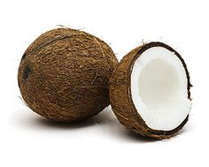 """Coconut: To open a coconut, hold it over a bowl and strike it with the dull side of a chef's knife (or a hammer). The flesh is """"dense and earthy,"""" with a """"vanilla-like finish."""" When choosing coconuts, give them a shake: They should be heavy and full of liquid. Store at room temperature for up to six months."""