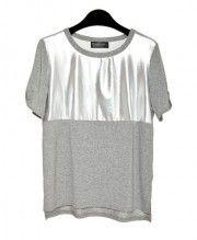 Metallic Detail T-shirts in Grey