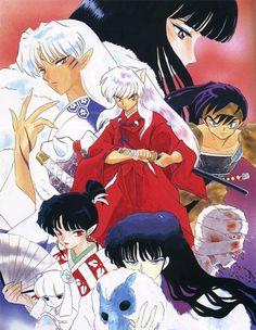 Inuyasha & his enemies Miroku, Kagome Higurashi, Kirara, Manga Art, Manga Anime, Anime Art, Inuyasha And Sesshomaru, Inu Yasha, Otaku