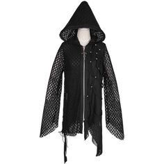PUNK RAVE Y-570 gothic asymmetric hoodie, oversize ($66) ❤ liked on Polyvore featuring tops, hoodies, goth hoodies, lined hoodie, oversized hoodies, punk rock hoodies and lined hooded sweatshirt