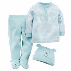 set 3 piezas carters pijama nena/nene
