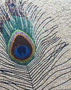 Minerva Mosaics Gallery - gorgeous peacock feather