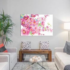 East Urban Home April Morning Garden Painting Print on Wrapped Canvas Size: