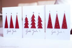 Julkort 2014 Christmas Cards 2018, Xmas Cards, Diy Cards, Christmas Time, Holiday Cards, Advent, Watercolor Christmas Cards, Christmas Wrapping, Homemade Christmas
