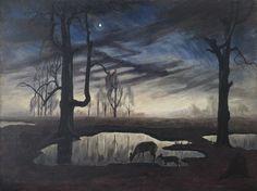 The Evening Star > Collection > Burchfield Penney Art Center Nocturne, Dark Art Illustrations, Illustration Art, Roman Goddess Of Love, Moonlight Painting, Building Art, Watercolor Landscape, Nature Scenes, American Artists